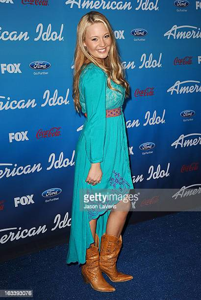 Singer Janelle Arthur attends the American Idol finalists event at The Grove on March 7, 2013 in Los Angeles, California.