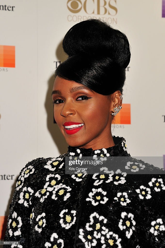 Singer Janelle Monae arrives at the 38th Annual Kennedy Center Honors Gala at the Kennedy Center for the Performing Arts on December 6, 2015 in Washington, DC.