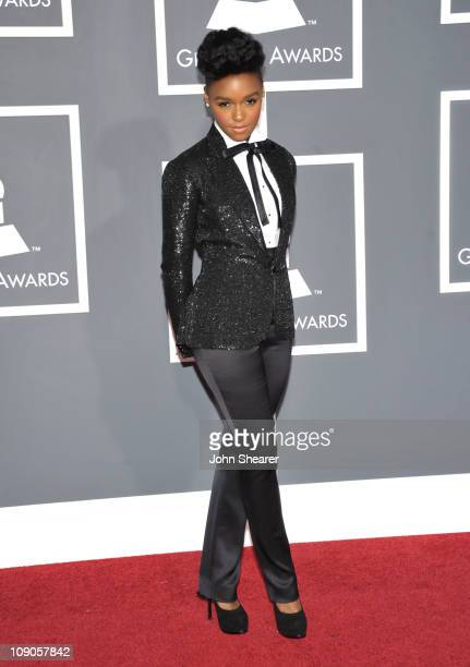 Singer Janelle Monae arrives at The 53rd Annual GRAMMY Awards held at Staples Center on February 13 2011 in Los Angeles California