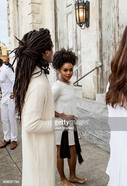 Singer Janelle Monae arrives for the wedding ceremony of musician Solange Knowles and music video director Alan Ferguson at the Marigny Opera House...