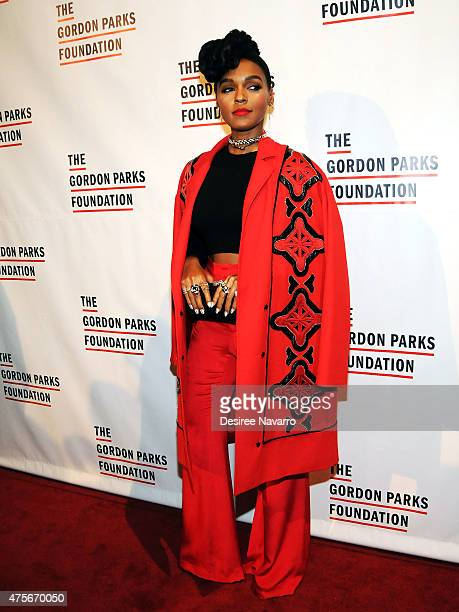 Singer Janelle Monae attends 2015 Gordon Parks Foundation Awards Dinner and Auction at Cipriani Wall Street on June 2 2015 in New York City