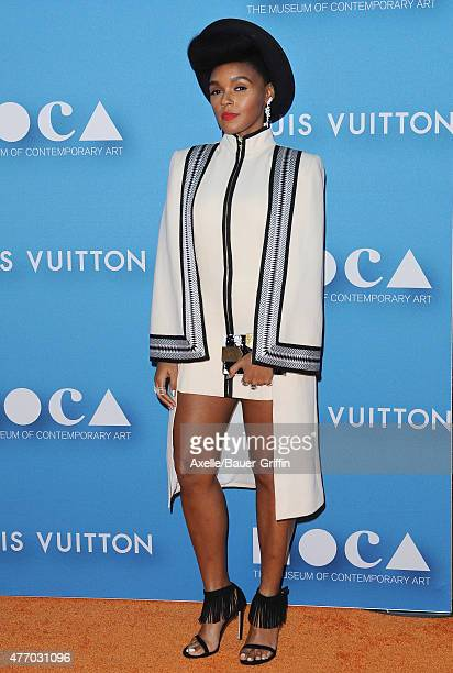 Singer Janelle Monae attends the 2015 MOCA Gala at The Geffen Contemporary at MOCA on May 30 2015 in Los Angeles California
