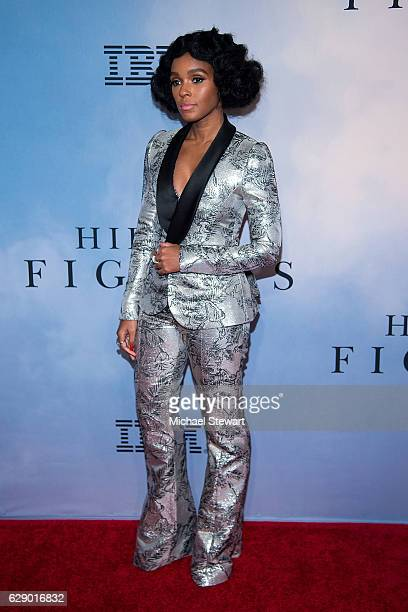 "Singer Janelle Monae attends the ""Hidden Figures"" New York special screening on December 10, 2016 in New York City."