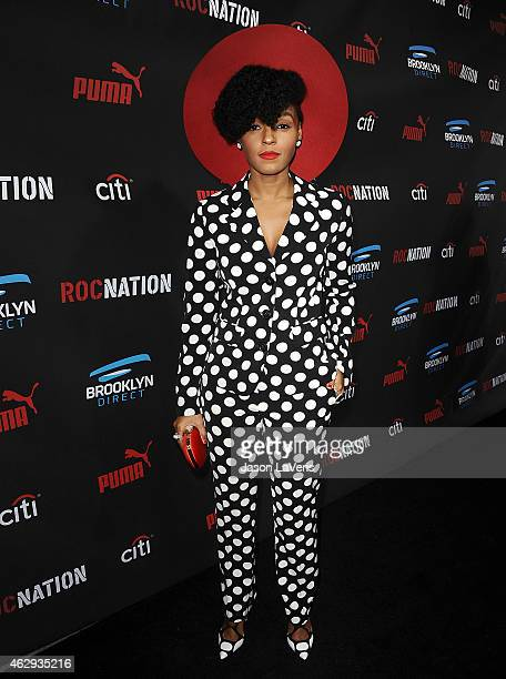 Singer Janelle Monae attends the Roc Nation Grammy brunch on February 7 2015 in Beverly Hills California