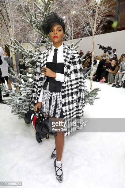 Singer Janelle Monae attends the Thom Browne show as part of the Paris Fashion Week Womenswear Fall/Winter 2020/2021 on March 01, 2020 in Paris,...