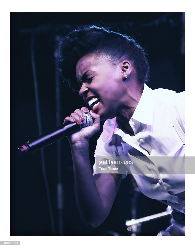 Singer Janelle Monae performs onstage during day 1 of the 2013 Coachella Valley Music & Arts Festival at the Empire Polo Club on April 13, 2013 in Indio, California.