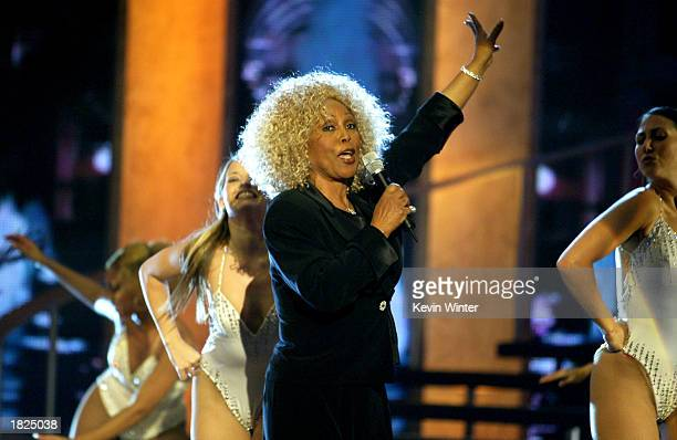 Singer Ja'net DuBois performs during the TV Land Awards 2003 at the Hollywood Palladium on March 2 2003 in Hollywood California