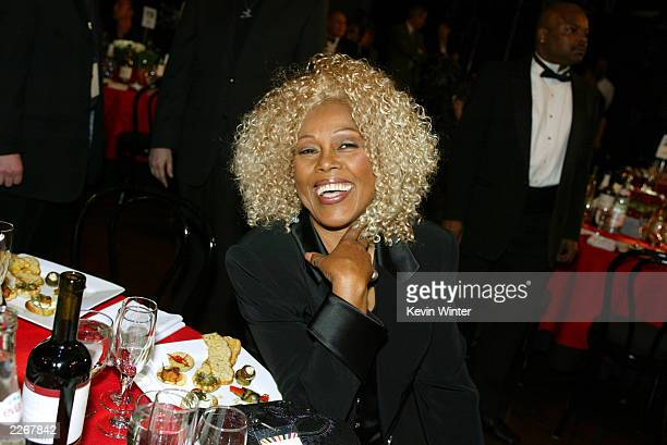 Singer Ja'net DuBois poses during the TV Land Awards 2003 at the Hollywood Palladium on March 2 2003 in Hollywood California