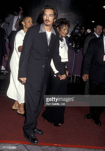 Singer Janet Jackson and boyfriend Rene Elizondo attend the Eighth Annual Essence Awards on May 12 1995 at Paramount Theatre Madison Square Garden in...