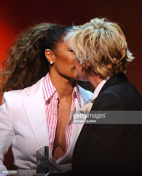 Singer Janet Jackson and comedian Ellen DeGeneres at the 19th Annual GLAAD Media Awards on April 25, 2008 at the Kodak Theatre in Hollywood,...