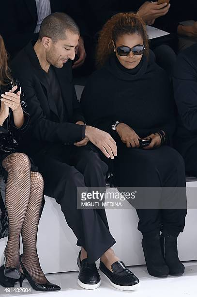 US singer Janet Jackson and husband Wissam Al Mana attend Hermes 2016 Spring/Summer readytowear collection fashion show on October 5 2015 in Paris...