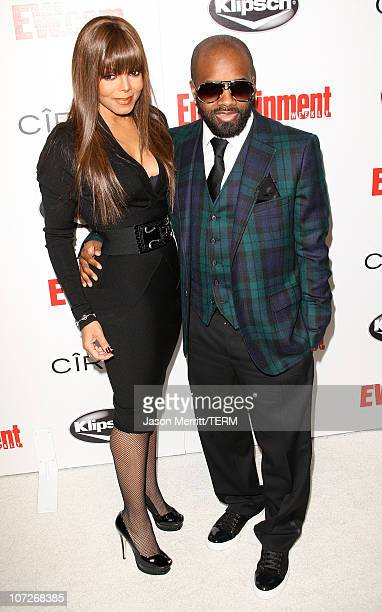 Singer Janet Jackson and Jermaine Dupri arrives at Entertainment Weekly's toast to Antonio LA Reid at STKLA on February 10 2008 in West Hollywood...