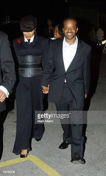 Singer Janet Jackson and Jermaine Duprie attends Stuff Magazine's Crown Royal Kentucky Derby Eve Party on May 2 2003 at Jillian's in Louisville...