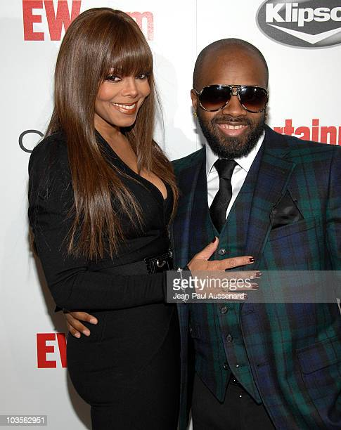 Singer Janet Jackson and music producer Jermaine Dupri arrive at Entertainment Weekly's toast to Antonio LA Reid held at STK on February 10 2008 in...