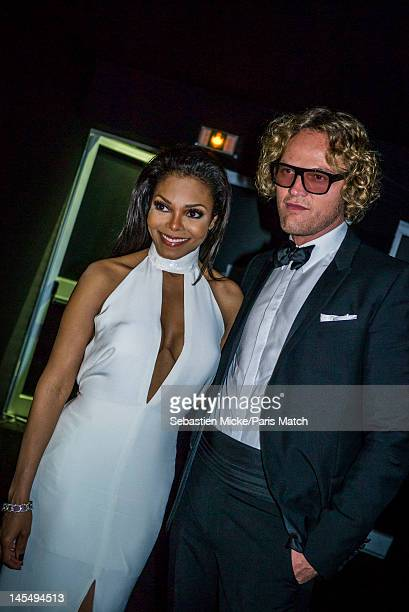 Singer Janet Jackson and Peter Dunas, photographed at the amfAR Cinema Against AIDS gala, for Paris Match on May 24 in Cap d'Antibes, France.