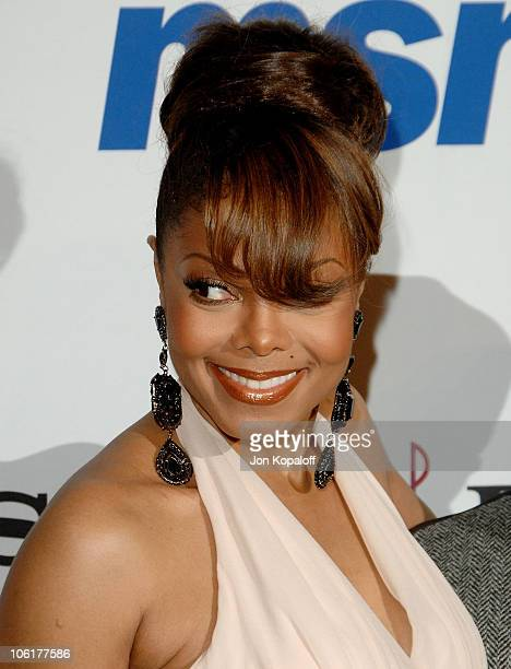 Singer Janet Jackson arrives to the Clive Davis PreGrammy Party at the Beverly Hilton Hotel on February 9 2008 in Beverly Hills California