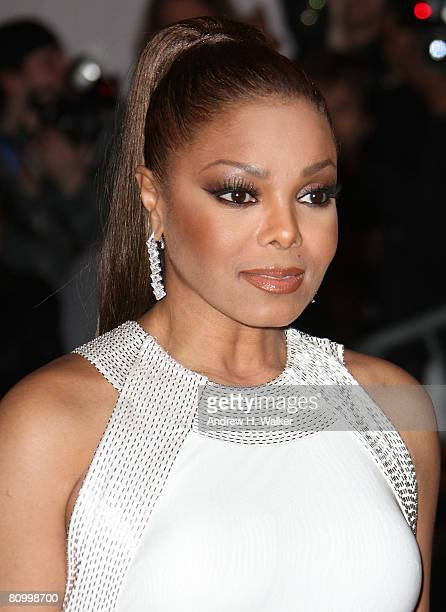 Singer Janet Jackson arrives to the Metropolitan Museum of Art Costume Institute Gala Superheroes Fashion and Fantasy held at the Metropolitan Museum...