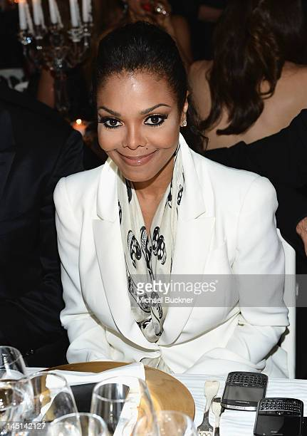 Singer Janet Jackson attends de Grisogono Glam Extravaganza at Hotel Du Cap EdenRoc on May 23 2012 in Cap D'Antibes France