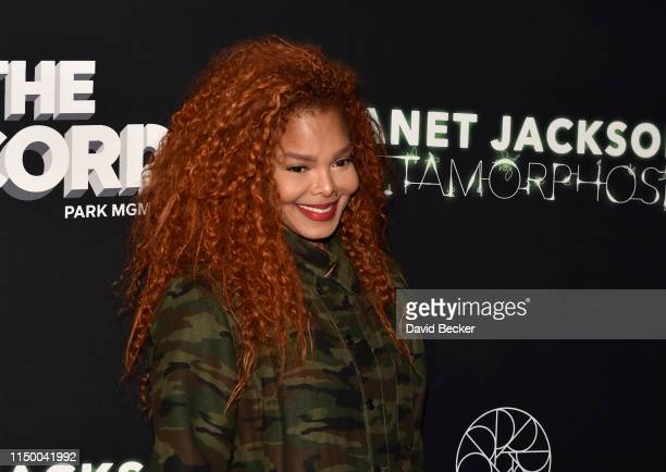 Singer Janet Jackson attends her residency debut Metamorphosis after party at On The Record Speakeasy and Club at Park MGM on May 17 2019 in Las...