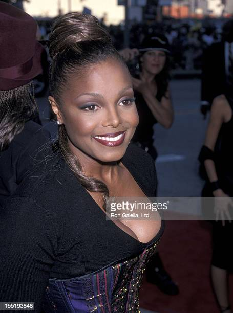 Singer Janet Jackson attends the 1999 Source HipHop Music Awards on August 18 1999 at the Pantages Theatre in Hollywood California