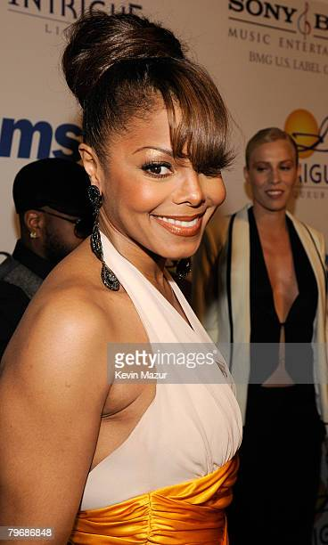 Singer Janet Jackson attends the 2008 Clive Davis PreGRAMMY party at the Beverly Hilton Hotel on February 9 2008 in Los Angeles California