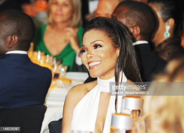 Singer Janet Jackson attends the 2012 amfAR's Cinema Against AIDS during the 65th Annual Cannes Film Festival at Hotel Du Cap on May 24 2012 in Cap...