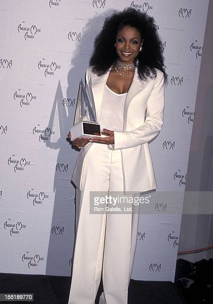 Singer Janet Jackson attends the 28th Annual American Music Awards on January 8 2001 at Shrine Auditorium in Los Angeles California