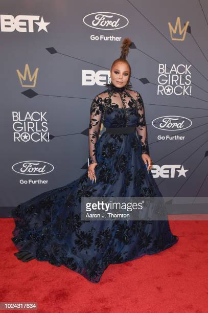 Singer Janet Jackson attends the Black Girls Rock Red Carpet at the New Jersey Performing Arts Center on August 26 2018 in Newark New Jersey
