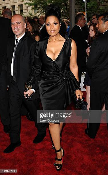 Singer Janet Jackson attends the Costume Institute Gala Benefit to celebrate the opening of the American Woman Fashioning a National Identity...