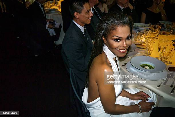 Singer Janet Jackson photographed at the amfAR Cinema Against AIDS gala, for Paris Match on May 24 in Cap d'Antibes, France.