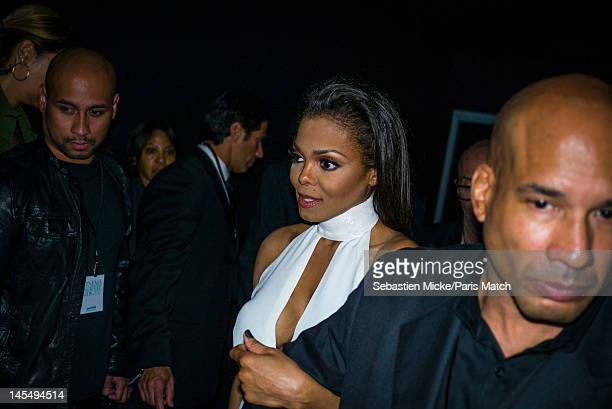 Singer Janet Jackson, photographed at the amfAR Cinema Against AIDS gala, for Paris Match on May 24 in Cap d'Antibes, France.