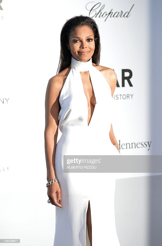 US singer Janet Jackson poses as she arrives to attend the 2012 amfAR's Cinema Against Aids on May 24, 2012 in Antibes, southeastern France.