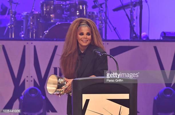 Singer Janet Jackson speaks at 2018 BMI RB/HipHop Awards on August 30 2018 in Atlanta Georgia