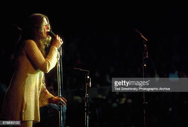 Singer Janis Joplin performs at the Monterey Pop Festival