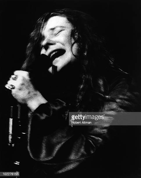 Singer Janis Joplin performs onstage at The Avalon Ballroom in August 1968 in San Francisco California