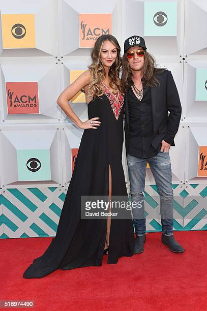 Singer Jaren Johnston and Evyn Mustoe attend the 51st Academy of Country Music Awards at MGM Grand Garden Arena on April 3 2016 in Las Vegas Nevada