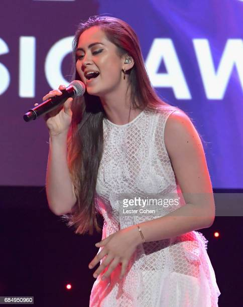 Singer Jasmine Thompson performs onstage at the 2017 ASCAP Pop Awards at The Wiltern on May 18 2017 in Los Angeles California