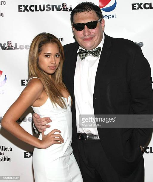 Singer Jasmine V and Founder Lee Hernandez attends the Exclusivleecom Launch Party>> at Stray Kat Gallery on September 18 2014 in New York City