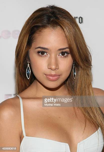 Singer Jasmine V attends the Exclusivleecom Launch Party>> at Stray Kat Gallery on September 18 2014 in New York City