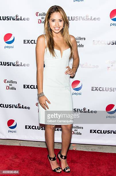 Singer Jasmine V attends the New York Launch party for Exclusivleecom at Stray Kat Gallery on September 18 2014 in New York City
