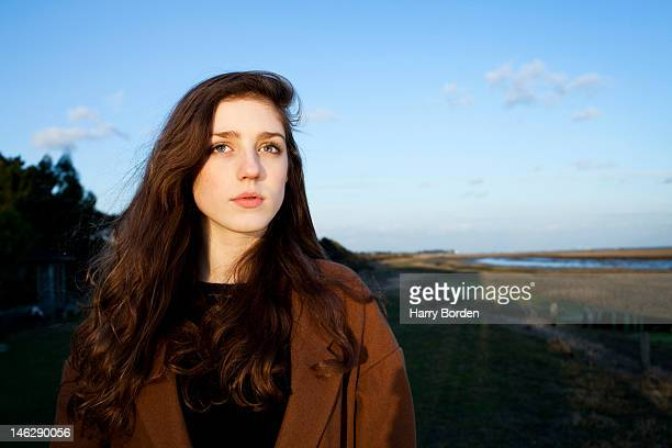 Singer Jasmine van den Bogaerde aka Birdy is photographed on March 5 2012 in Lymington England