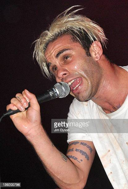 Singer Jason Aalon Butler of American hard rock group letlive performs live on stage during the Kerrang Tour at The Roundhouse on February 17 2012 in...