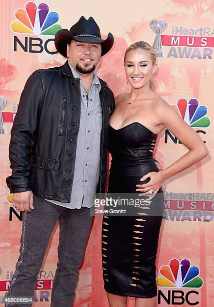 Singer Jason Aldean and Brittany Kerr attend the 2015 iHeartRadio Music Awards which broadcasted live on NBC from The Shrine Auditorium on March 29...