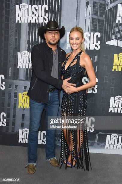 Singer Jason Aldean and Brittany Kerr attend the 2017 CMT Music Awards at the Music City Center on June 7 2017 in Nashville Tennessee