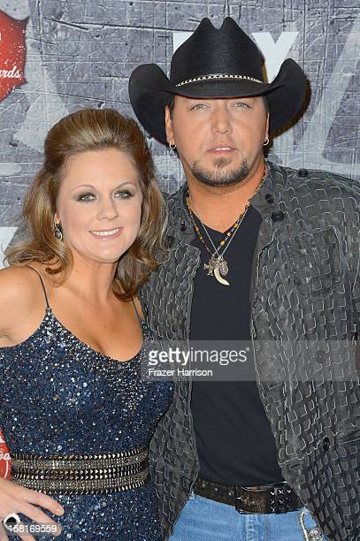 Singer Jason Aldean and Jessica Aldean arrive at the 2012 American Country Awards at the Mandalay Bay Events Center on December 10, 2012 in Las...