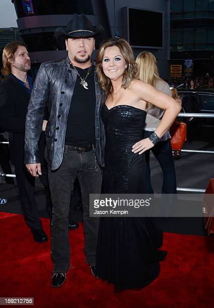 Singer Jason Aldean and Jessica Aldean attend the 39th Annual People's Choice Awards at Nokia Theatre LA Live on January 9 2013 in Los Angeles...