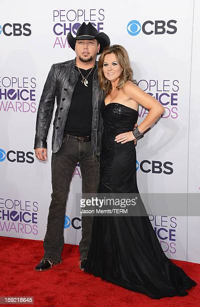 Singer Jason Aldean and Jessica Aldean attend the 39th Annual People's Choice Awards at Nokia Theatre L.A. Live on January 9, 2013 in Los Angeles,...