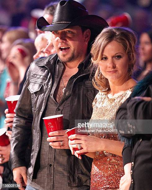 Singer Jason Aldean and Jessica Aldean attend the American Country Awards 2011 at the MGM Grand Garden Arena on December 5, 2011 in Las Vegas, Nevada.