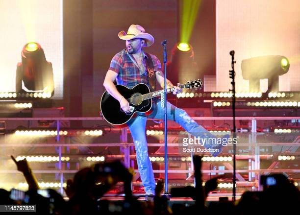 Singer Jason Aldean performs onstage during Day 3 of the Stagecoach Music Festival on April 28, 2019 in Indio, California.