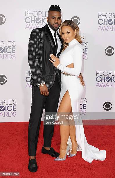 Singer Jason Derulo and Daphne Joy arrive at People's Choice Awards 2016 at Microsoft Theater on January 6 2016 in Los Angeles California